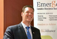 Martin Yuill, currently director of bioscience business incubator Emergence in Charlottetown PEI, has been appointed as executive director of green technology research and innovation Cleantech Commons at Trent University in Peterborough. Yuill is a past president and CEO of the Greater Peterborough Innovation Cluster, where he was responsible for launching tech incubator The Cube at Trent University's DNA building. (Photo: Emergence)
