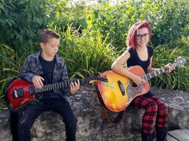 Siblings 14-year-old Amanda and 12-year-old John of Port Hope have only been playing and singing for a year, but are performing their first official gig at Ganarascals Restaurant in Port Hope on Saturday, January 12th. (Photo: Amanda and John / Facebook)