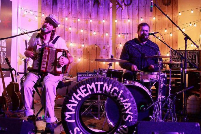 Peterborough's fuzz-folk duo Mayhemingways (Benj Rowland and Josh Fewings) return to the Kawartha Coffee Company in Bobcaygeon at 7 p.m. on Saturday, January 5, 2019.