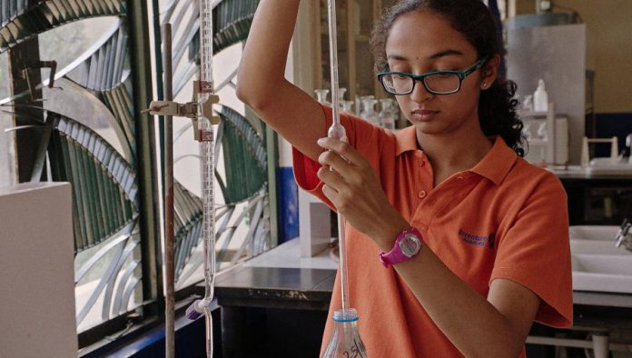 """Inventing Tomorrow"" documents passionate teenage innovators from around the globe, like 16-year-old Sahithi in  India, who are creating cutting-edge solutions to confront the world's environmental threats. (Publicity photo)"