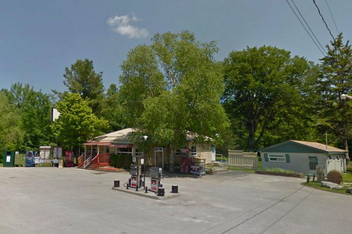 Marilyn Reid has operated her convenience store and gas bar on County Road 6 at Hull's Rd on Upper Stony Lake in North Kawartha since 1968. Her husband passed away in 2002. The 87-year-old has run out of cash and supporters are raising funds to keep the store going. (Photo: Google Maps)
