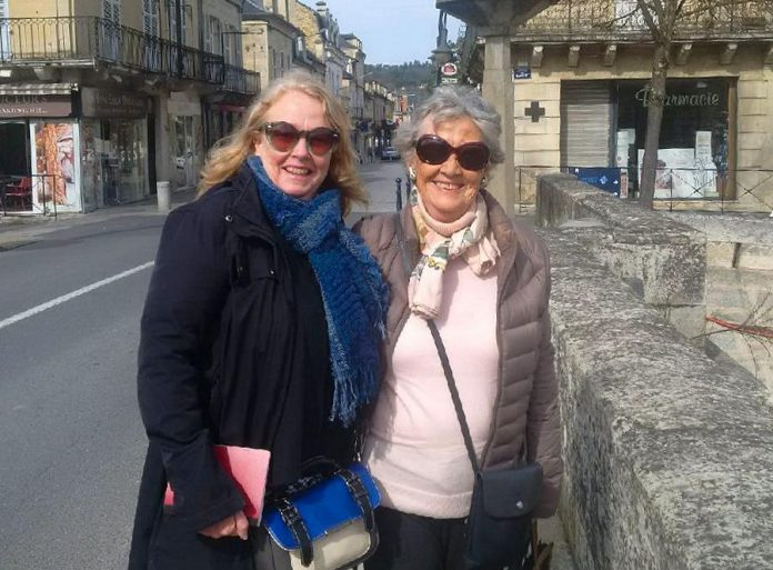 Peterborough resident Johanna Sinclair (left) with Mme Lacroix, the former owner of the villa in the French village of Terrasson that Johanna purchased and renovated. (Supplied photo)