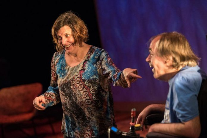 """Liz MacDougall and Tony Diamanti, both of whom live with cerebral palsy, are one of two real-life couples who perform in """"This is the Point"""". The play won two Dora awards in 2017. (Photo: Dahlia Katz)"""