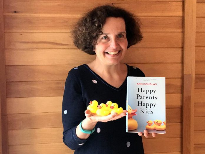 "Peterborough parenting author and speaker Ann Douglas with a copy of her latest book, ""Happy Parents Happy Kids"", published by HarperCollins Canada and available on February 19, 2019. (Photo courtesy of Ann Douglas)"