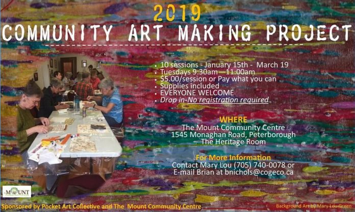 The Community Art Making Project at The Mount Community Centre. (Graphic courtesy of  Brian Nichols)