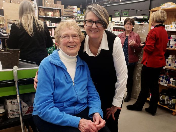 Jo Anne Fallaise (left) founded Jo Anne's Place in the living room of her Lindsay home in 1976. Retired since 2003, her daughter Margo Hudson currently owns the business, with two locations in Peterborough and one in Lindsay, with her husband Murray.  (Photo: Jeannine Taylor / kawarthaNOW.com)
