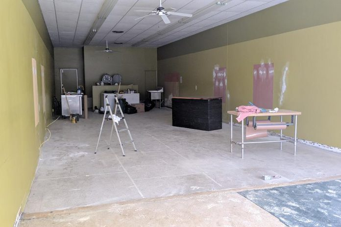 Renovations of the interior are currently underway. (Photo: Bruce Head / kawarthaNOW.com)