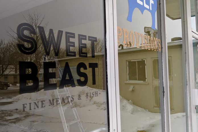 Sweet Beast Fine Meats & Fish is a new butcher shop opening soon in Peterborough's East City. (Photo: Bruce Head / kawarthaNOW.com)