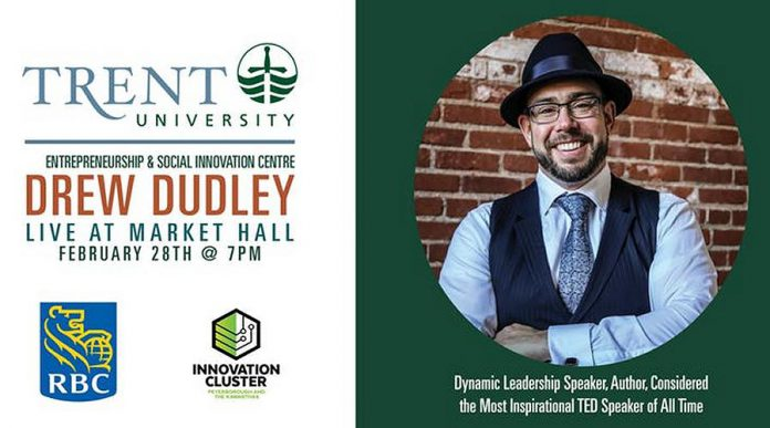 Drew Dudley at the Market Hall  on February 28