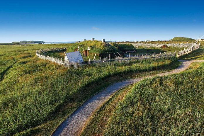 On the 10-day tours, the group moves north to L'Anse aux Meadows, an archaeological site on the northernmost tip of the Great Northern Peninsula and home to the excavated remains of a complete 11th-century Viking settlement. (Photo courtesy of Parks Canada)