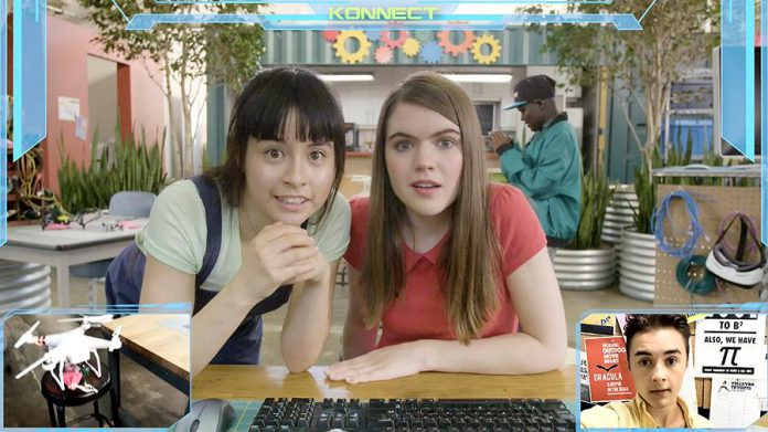 "Anwen O'Driscoll (right) appears as Lana with her best friend Star Slade as Simone in the 2017 STEM-related web series ""Emerald Code"". (Photo: Shaftesbury Films)"