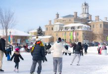 Free Family Day activities in Cobourg include skating at the Rotary Harbourfront Outdoor Skating Rink with a live DJ from 11 a.m. to 3 p.m. There are also other outdoor and indoor activities planned in Cobourg, with additional activities offered in Port Hope on February 18, 2019. (Photo courtesy of the Town of Cobourg)