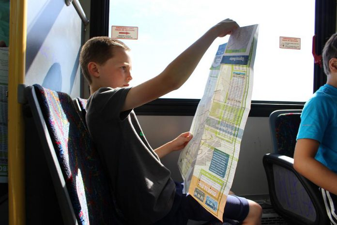 The Transit Quest program encourages students in grade eight to use Peterborough Transit by providing them with a free transit pass over the March Break. (Photo courtesy of GreenUP)