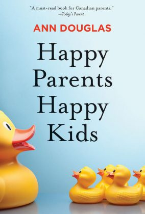 """Happy Parents Happy Kids"" is described as ""the ultimate no-guilt guide to boosting your enjoyment of parenting while at the same time maximizing the health and happiness of your entire family."""