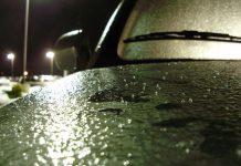 Ice pellets and freezing rain on car