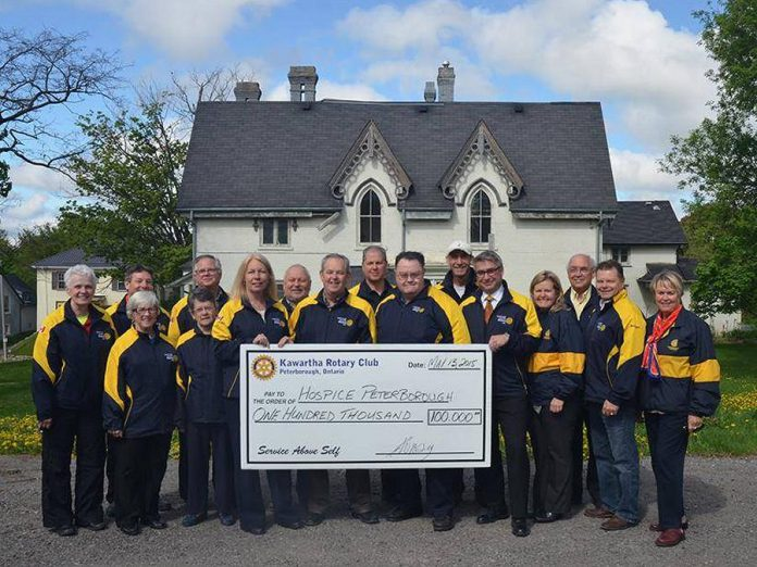 In 2015, Kawartha Rotary made a commitment to raise $100,000 for Hospice Peterborough's  new palliative care centre. (Photo courtesy of Rotary Club of Peterborough Kawartha)
