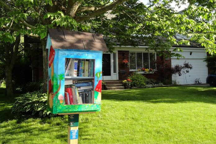 In 2015, as part of its 25th anniversary, Kawartha Rotary installed 25 Little Free Library stations in neighbourhoods around Peterborough. (Photo courtesy of Rotary Club of Peterborough Kawartha)