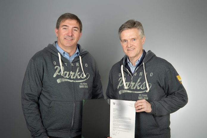 Peterbrough-Kawartha MPP Dave Smith (left) has been appointed special advisor for Ontario Parks by Rod Phillips, Minister of the Environment, Conservation and Parks. (Photo: Government of Ontario)