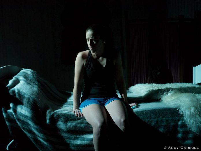 """Lindsay Unterlander will perform as the vagina-haunted Bridgett in Naomi Duvall's """"Puss-essed"""" for two of the three performances, and as the voice of Bridgett's mother's ghost for one performance.  (Photo: Andy Carroll)"""
