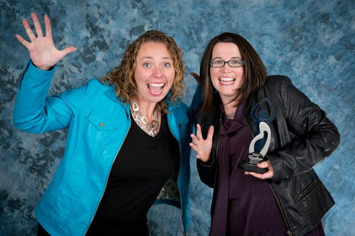 Sullivan Law Ptbo's founding partner Martha Sullivan (right) won the 2018 Peterborough Business Excellence Awards in the Micro Business category last October. Here she is pictured with Julie Kellett from Darling Insurance who was the award sponsor. (Photo: Miranda Studios Photography)