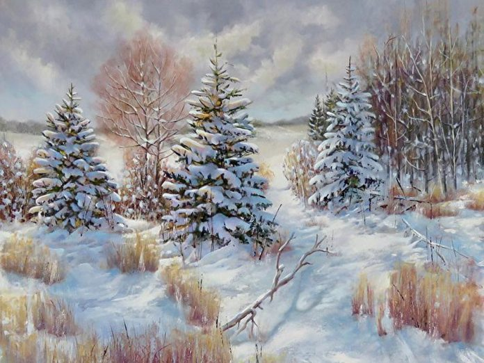 """The Boughs Will Fall"" by Barbara McGuey, one of the artists featured at Gallery On The Lake. (Photo courtesy of Gallery On The Lake)"