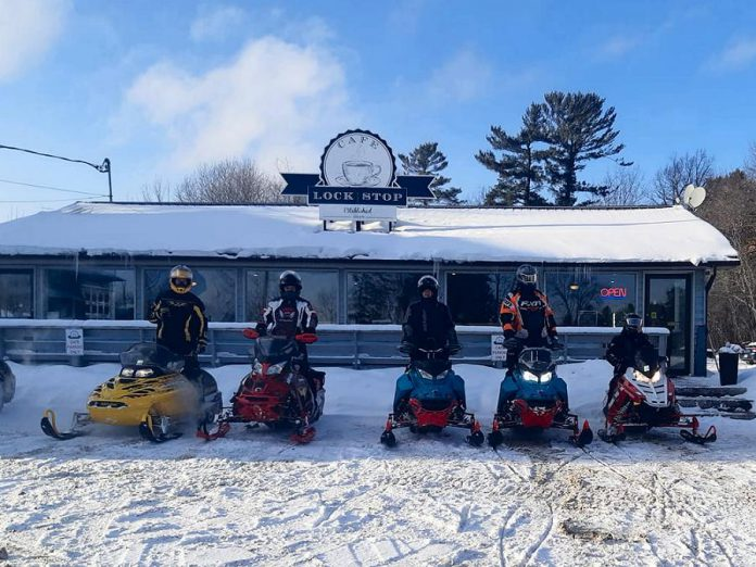 By car or snowmobile, Lock Stop Cafe is located at 1919 Lakehurst Road in Buckhorn.  (Photo courtesy of Lock Stop Cafe)
