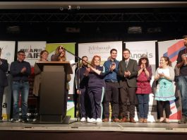 The six finalists of the 2019 Bears' Lair entrepreneurial competition are Transit One, AVROD, Alexander Optical, Electric Juice Factory, Emily Mae's Cookies & Sweets, and PedalBoro. (Photo: Jeannine Taylor / kawarthaNOW.com)