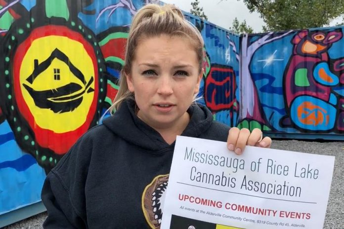 Amy Marsden, co-owner of Healing House Medicinals, is the treasurer of the Mississaugas of Rice Lake Cannabis Association, which is working on implementing a process of self-regulation of the cannabis industry on the territory of the Alderville First Nation. (Photo: Real People's Media)