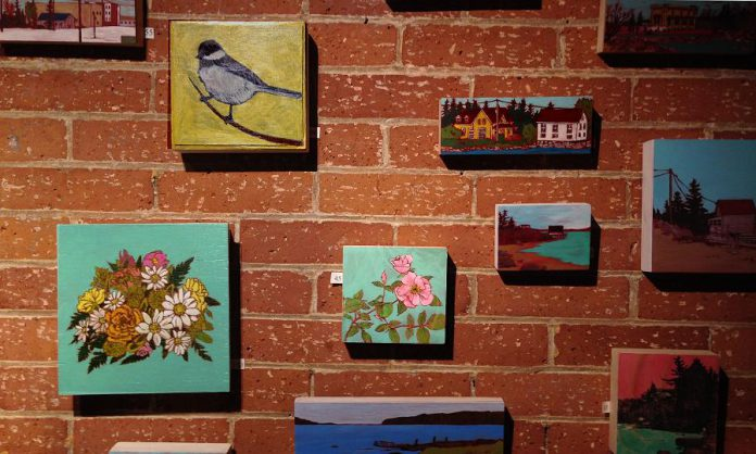 Works by Shannon Taylor and Charlotte Di Carlo are on display this April at the new Green Lemon Gallery in downtown Peterborough. (Photo: Shannon Taylor)