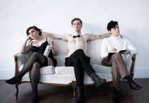 "Dani McDonald as Salli Bowles, Conner Clarkin as the Emcee, and Daze Francis as Cliff Bradshaw in a promotional photo for the Anne Shirley Theatre Company production of the classic musical ""Cabaret"", which runs from March 15 to 23, 2019 at the Market Hall Performing Arts Centre. (Photo: Ash Naylor Photography)"