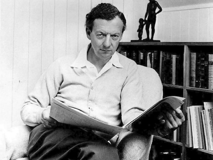 """English composer Benjamin Britten (pictured in 1968) wrote his brisk and theatrical """"Gloriana"""" Suite in 1953, but was inspired by court and dance music of the 1500s and 1600s. (Photo: Hans Wild)"""