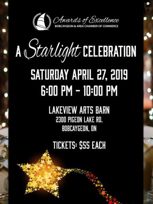 Bobcaygeon & Area Chamber of Commerce's 2019 Awards of Excellence will be presented on April 27, 2019. (Poster: Bobcaygeon Chamber)