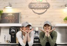 Rebecca and Hannah are ready to serve you at '76 Sips, the new beverage bar at the Lansdowne Street location of Joanne's Place Health Foods. The beverage bar opened on March 18, 2019. (Photo: Joanne's Place)