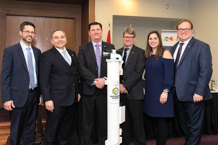 Through a collaboration between local Peterborough business Prima IP, the Brazilian Consulate of Toronto and the Brazil Canada Chamber of Commerce (BCCC), and the Innovation Cluster Peterborough & the Kawarthas, Peterborough is sending water purification technology to Brazil in response to the January 25th disaster when an iron ore mine's tailings dam burst. (Photo: Innovation Cluster)