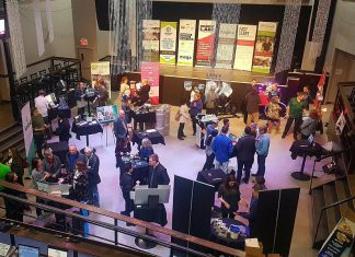 The semi-finalist showcase for the 2018 Bears' Lair Entrepreneurial Competition at The Venue in downtown Peterborough. This year's showcase, where 24 semi-finalists will be displaying information about their businesses and how they operate, takes place on March 26, 2019. Six finalists for the final pitch event on April 30th will be announced at the end of the showcase event. (Photo: Bears' Lair)