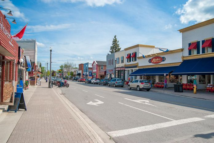 Parking in downtown Bobcaygeon. (Photo: City of Kawartha Lakes)