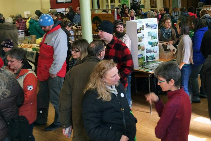 Attendees of last year's Seedy Sunday Peterborough visit with vendors, get gardening advice, and purchase seeds for the upcoming growing season. (Photo: Jillian Bishop)