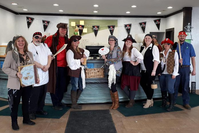 Staff of the Holiday Inn Peterborough-Waterfront in downtown Peterborough are ready to welcome your family for a pirate-themed staycation during March Break. (Photo: Holiday Inn Peterborough-Waterfront)