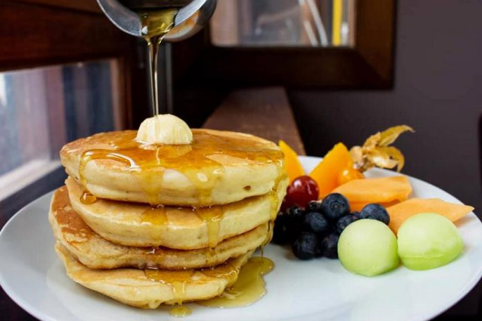Buttermilk pancakes anyone? Nateure's Plate uses a vegan buttermilk to make perfectly fluffy pancakes. (Photo: Nateure's Plate)