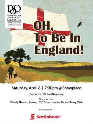 """Tickets are available now for the PSO's """"Oh, to be in England!"""" on April 6, 2019 at Showplace. Ticket holders can find out more about the program at the pre-concert Meet the Maestro chat starting at 6:40 p.m."""
