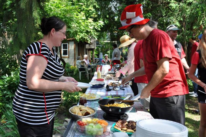 Terra Firma, a small cohousing project in central Ottawa launched in 1997, consists of 12 familiies living in renovated townhouses with a common space featuring many shared amenities.  (Photo: Canadian Cohousing Network)