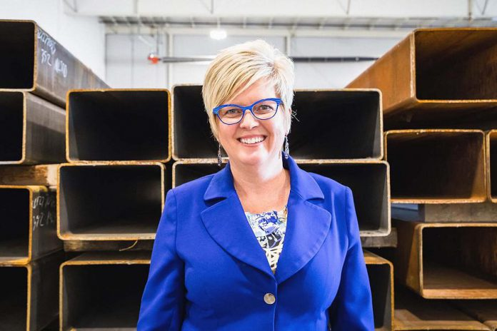 Steelworks Design co-founder and COO  Rhonda Barnet will deliver the keynote speech at the 2019 Women in Business and Judy Heffernan Awards dinner on April 9, 2019 at Personal Touch Banquet Hall in Peterborough. (Photo: Heather Doughty / Inspire: The Women's Portrait Project)