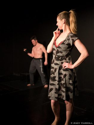 """Mark McGilvray as Rock and Ange Sorenen as Megan in """"Heads"""". (Photo: Andy Carroll)"""