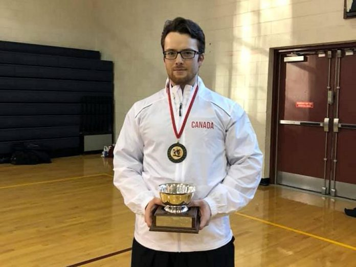 Oshawa native Warren Wagler, a member of Kenshokan Dojo with locations in Peterborough, Oshawa, Tweed, and Lindsay, won the Haga Cup at the 2019 East Coast Iaido Taikai (competition) held in Jersey City, New Jersey on February 17, 2019, as part of the inaugural delegation for Team Canada Iaido. Wagler holds the rank of sandan (third dan) in iaido, the traditional Japanese martial art of swordsmanship. (Photo courtesy of Team Canada Iaido)