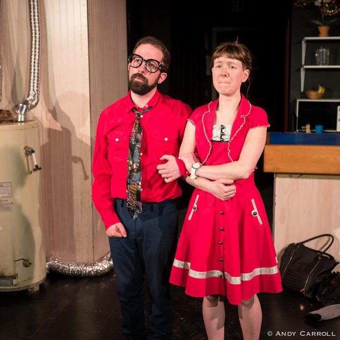 """Chris Jardin and Robyn Smith's on-stage chemistry Ernest and Ernestine make """"The Anger in Ernest and Ernestine"""" an enjoyable show.  (Photo: Andy Carroll)"""