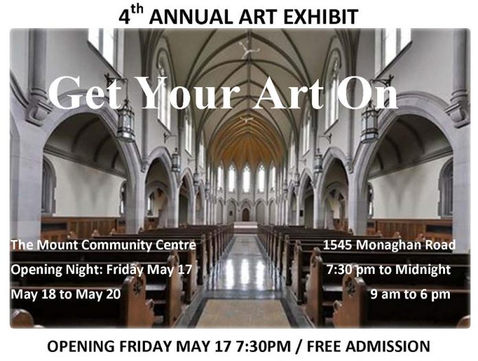 """Get Your Art On"" takes place from May 17 to 20, 2019 at The Mount in Peterborough. (Poster: Hartley Stephenson)"