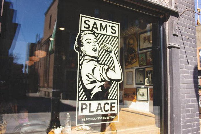 Sam's Place in downtown Peterborough recently unveiled a renovated interior along with a new logo and slogan. (Photo: Peterborough DBIA / Facebook)