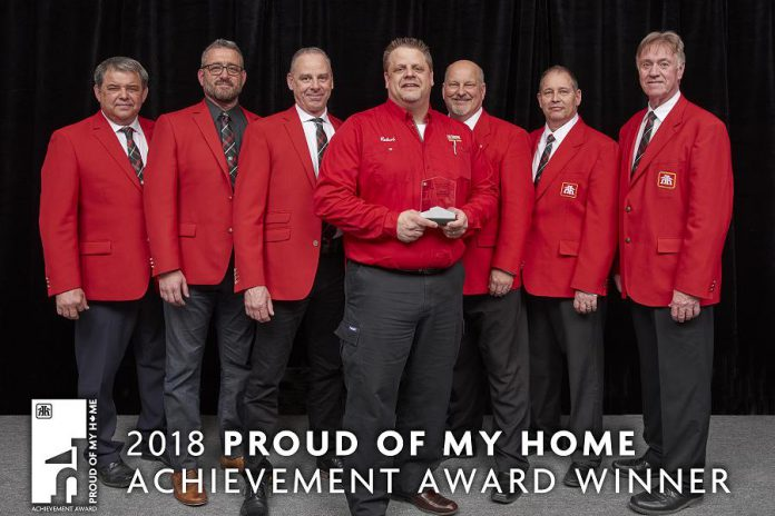 Cobourg Home Hardware Building Centre dealer-owners Joel Curtis and Brad O'Neill have received the 2018 Proud of My Home Award, for the best Home Hardware Building Centre over 15,000 square feet in Canada, from Home Hardware Stores Limited. (Photo courtesy of Home Hardware Stores Limited)
