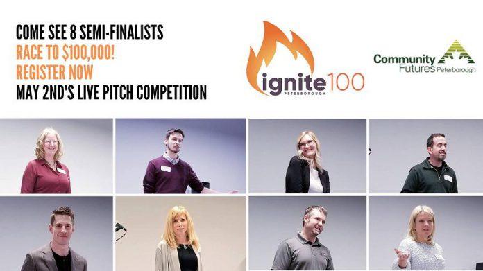 ignite100 competition semi-final live pitch night