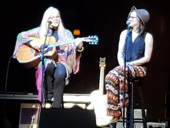 "Carrie Alice Williams opened for Neil Young at the Orpheum Theatre in Minneapolis on January 21, 2019, where she was joined on her song ""Thousands Of Flowers"" by her daughter Melissa. (Photo courtesy of Carrie Alice Williams)"